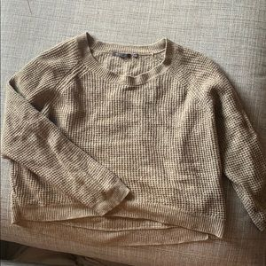 Vince Crop Beige/Tan Wool Sweater 80% off!!